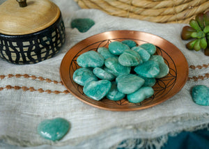 Carved Amazonite Hearts for Inner Peace
