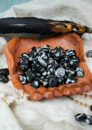 Tumbled Snowflake Obsidian for Balance & Courage
