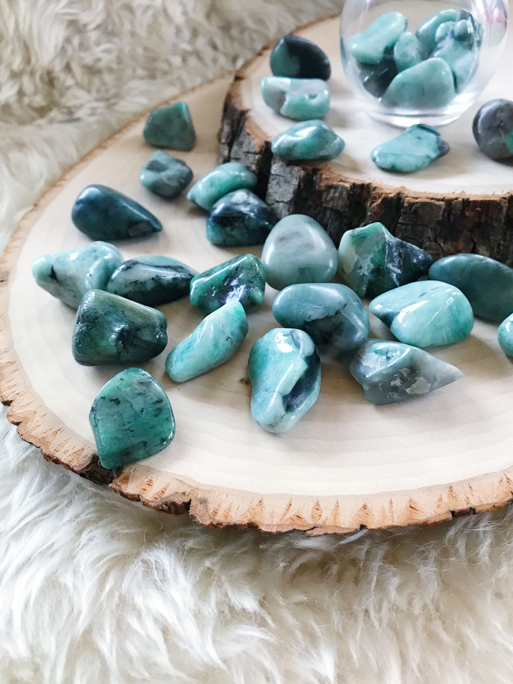 Tumbled Emerald for Inner Peace & Calming