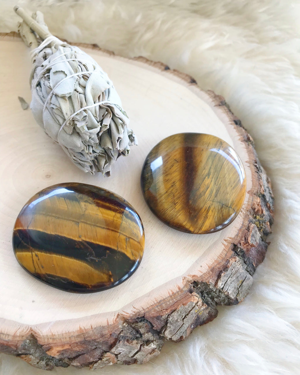 Golden Tiger's Eye Palm Stones for Personal Power & Energy