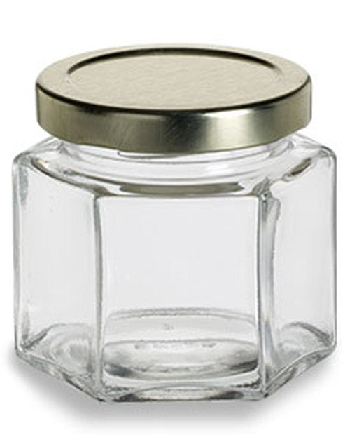Glass Hexagon Jars - Various Sizes