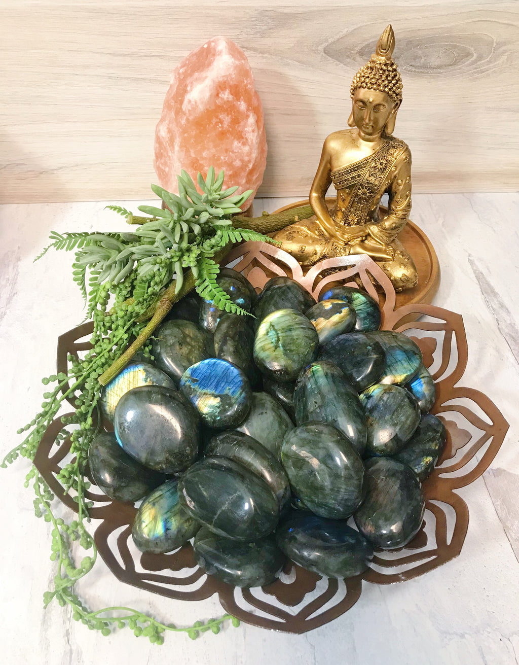 Labradorite Palm Stones for Spiritual Beauty