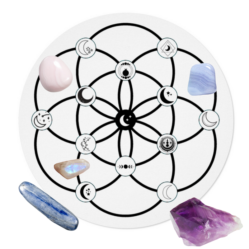 Moon Vibes Crystal Grid Templates