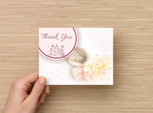 [CRYSTAL HEALER TOOLS] Client Thank You Cards (Pack of 6)