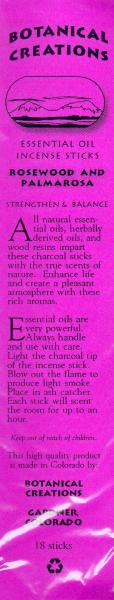 Botanical Creations Stick Incense - Various Scents