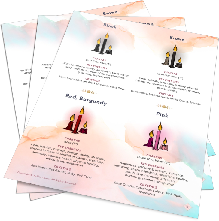 [FREE DOWNLOAD] Color Magic for Spellwork, Ritual, and Ceremony Charts