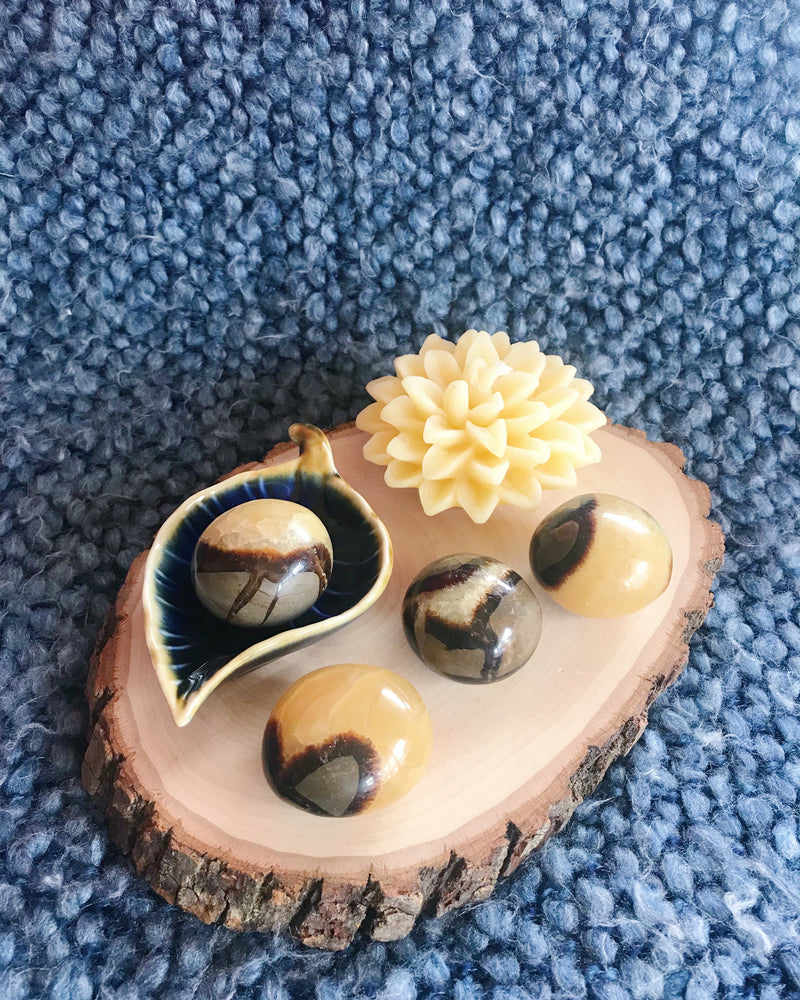 Tumbled Septarian Nodule for Calming & Tranquility