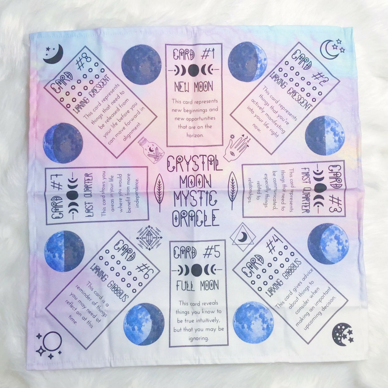 Lunar Phases Card Readings Spread Cloth