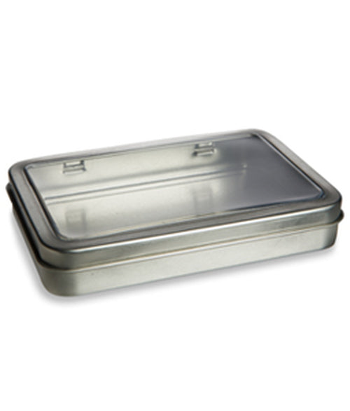Rectangular Hinged Window Tin for Herbs & Tea