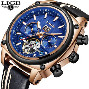 2019 N LIGE Mens Watches Top Brand Luxury Men's Military Sport Watch mens watch Rose gold black Fashion & Tech Shop