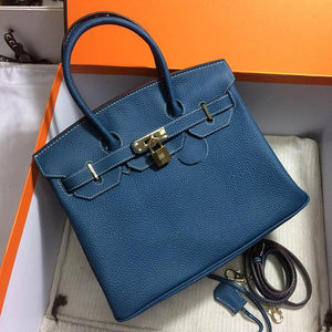 35CM 30CM 25CM 2018 Famous Brand H K Totes bags luxury women Genuine leather Bags Fashion lady Handbag Factory wholesale In Stock Real Image Bags & Wallets Blue / Size: 25cm Fashion & Tech Shop