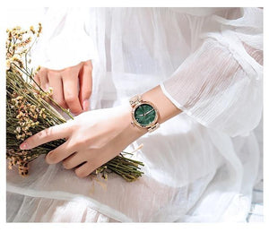 5 Colors Women Watches Ladies Crystal Round Wristwatch Modern Rose Gold Womens' Fashion Accessories Green Fashion & Tech Shop