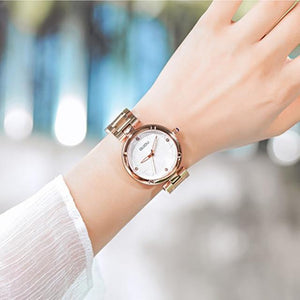 5 Colors Women Watches Ladies Crystal Round Wristwatch Modern Rose Gold Womens' Fashion Accessories White Fashion & Tech Shop