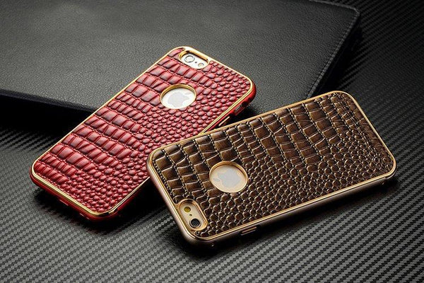 Alloy Frame with Crocodile Skin iPhone 6 Case Phone Cases iPhone 6 Black Fashion & Tech Shop