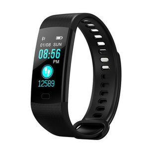 CAFELE Smart Wristband Fitness Bracelet Big Touch Screen OLED Message Blood Oxygen Blood Pressure Heart Rate Time Smartband Black Fashion & Tech Shop