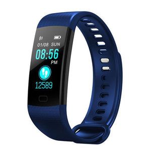 CAFELE Smart Wristband Fitness Bracelet Big Touch Screen OLED Message Blood Oxygen Blood Pressure Heart Rate Time Smartband Blue Fashion & Tech Shop