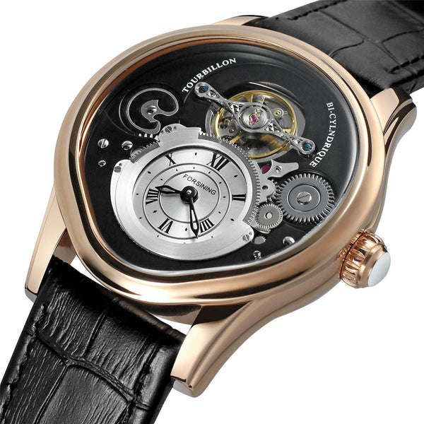 FORSINING Tourbillon Mens Top Brand Luxury Automatic Mechanical Watch Men Leather Strap Gold Case Business Waterproof Watches mens watch 01 Fashion & Tech Shop