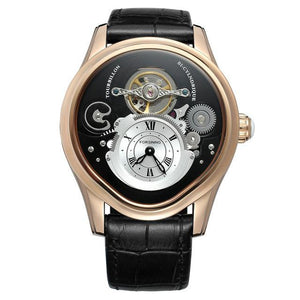 FORSINING Tourbillon Mens Top Brand Luxury Automatic Mechanical Watch Men Leather Strap Gold Case Business Waterproof Watches mens watch 02 Fashion & Tech Shop