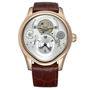 FORSINING Tourbillon Mens Top Brand Luxury Automatic Mechanical Watch Men Leather Strap Gold Case Business Waterproof Watches mens watch 03 Fashion & Tech Shop