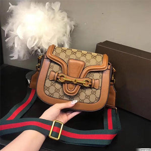 hot sale designer crossbody messenger bags luxury famous brand handbags good quality leather bags classical style saddle bag dust bag box Bags & Wallets Brown style 2 Fashion & Tech Shop