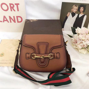 hot sale designer crossbody messenger bags luxury famous brand handbags good quality leather bags classical style saddle bag dust bag box Brown style 1 Fashion & Tech Shop