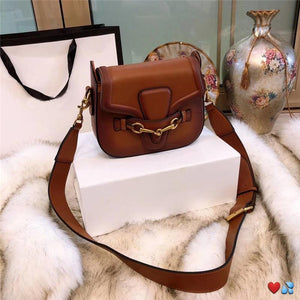 hot sale designer crossbody messenger bags luxury famous brand handbags good quality leather bags classical style saddle bag dust bag box Brown style 3 Fashion & Tech Shop