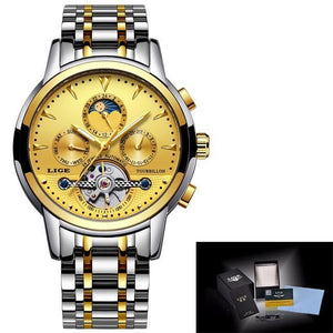 Mens Watches New LIGE Top Brand Luxury Men's Automatic Mechanical Watch mens watch all gold Fashion & Tech Shop