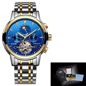 Mens Watches New LIGE Top Brand Luxury Men's Automatic Mechanical Watch mens watch gold blue Fashion & Tech Shop