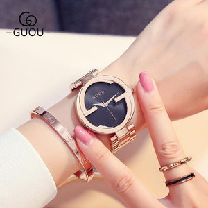 New Luxury Women Watches Women Fashion Bracelet Watch Quartz Wrist Watch For Women Top Brand Gold Ladies Casual Watch Clock 2018 Womens' Fashion Accessories black red Fashion & Tech Shop
