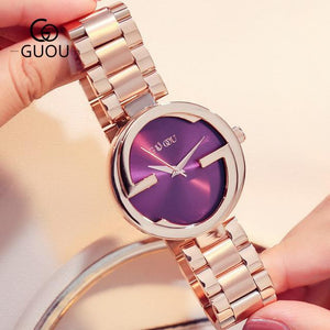 New Luxury Women Watches Women Fashion Bracelet Watch Quartz Wrist Watch For Women Top Brand Gold Ladies Casual Watch Clock 2018 Womens' Fashion Accessories rose gold purple Fashion & Tech Shop