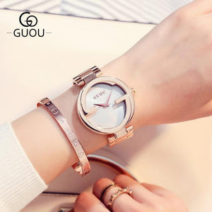 New Luxury Women Watches Women Fashion Bracelet Watch Quartz Wrist Watch For Women Top Brand Gold Ladies Casual Watch Clock 2018 Womens' Fashion Accessories rose gold white Fashion & Tech Shop