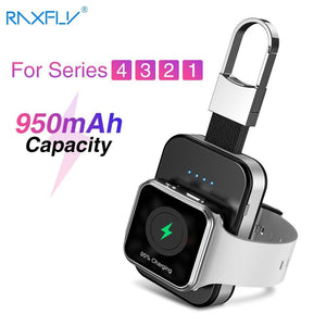 RAXFLY keychain Wireless Charger For Apple i Watch Series 2 3 4 950mAH LED Power Bank Dock Outdoor portable Wireless Charger Fashion & Tech Shop