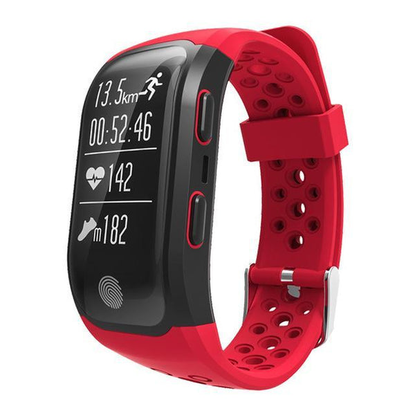 S908 GPS Smartband GPS Heart Rate / Bluetooth 4.2 Pedometer Band IP68 Waterproof Sprot Wristbands Fitness Fitness Sport Tracker red Fashion & Tech Shop