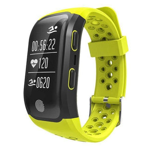 S908 GPS Smartband GPS Heart Rate / Bluetooth 4.2 Pedometer Band IP68 Waterproof Sprot Wristbands Fitness Fitness Sport Tracker yellow Fashion & Tech Shop