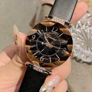 Top Brand Diamond Dial Women Watches Ladies Casual Dress Watch Women Elegant Starry Sky Dial Quartz Watch Womens' Fashion Accessories black Fashion & Tech Shop