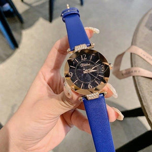 Top Brand Diamond Dial Women Watches Ladies Casual Dress Watch Women Elegant Starry Sky Dial Quartz Watch Womens' Fashion Accessories Blue Fashion & Tech Shop