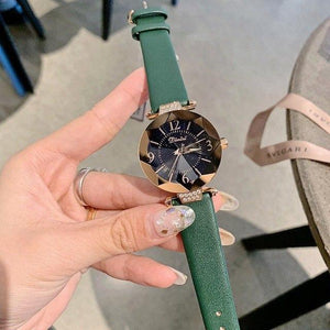 Top Brand Diamond Dial Women Watches Ladies Casual Dress Watch Women Elegant Starry Sky Dial Quartz Watch Womens' Fashion Accessories Green Fashion & Tech Shop