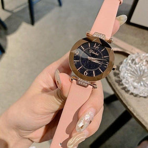 Top Brand Diamond Dial Women Watches Ladies Casual Dress Watch Women Elegant Starry Sky Dial Quartz Watch Womens' Fashion Accessories Pink Fashion & Tech Shop