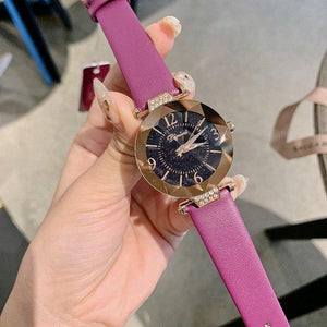 Top Brand Diamond Dial Women Watches Ladies Casual Dress Watch Women Elegant Starry Sky Dial Quartz Watch Womens' Fashion Accessories purple Fashion & Tech Shop