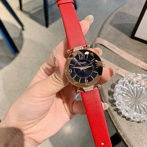Top Brand Diamond Dial Women Watches Ladies Casual Dress Watch Women Elegant Starry Sky Dial Quartz Watch Womens' Fashion Accessories Red Fashion & Tech Shop