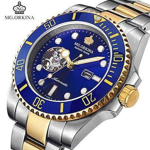 Top Brand MG.ORKINA Automatic Mechanical Watches Men 316L Stainless Steel Watches Luminous Green Dial Men Watch 30M Waterproof mens watch 007goldblue Fashion & Tech Shop