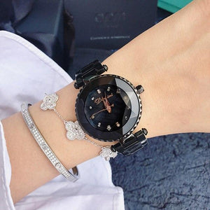 Top Luxury Brand Ladies Crystal Watch Women Dress Watches Womens' Fashion Accessories black Fashion & Tech Shop