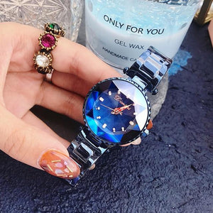 Top Luxury Brand Ladies Crystal Watch Women Dress Watches Womens' Fashion Accessories blue Fashion & Tech Shop