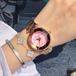 Top Luxury Brand Ladies Crystal Watch Women Dress Watches Womens' Fashion Accessories Pink Fashion & Tech Shop