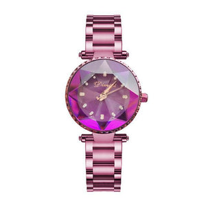 Top Luxury Brand Ladies Crystal Watch Women Dress Watches Womens' Fashion Accessories purple Fashion & Tech Shop