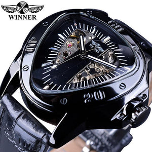 Winner Steampunk Fashion Triangle Golden Skeleton Movement Mysterious Men Automatic Mechanical Wrist Watches Top Brand Luxury GMT996-9 Fashion & Tech Shop