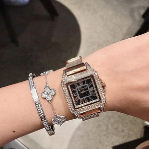 Women Watch Leather Strap Square Casual Watch mens watch Rose Fashion & Tech Shop