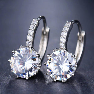 Laurent Diamond Earrings in 18k White Gold