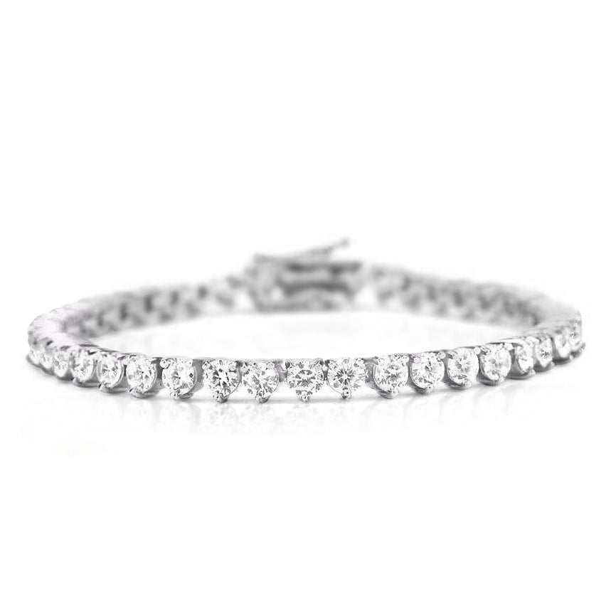 Monique Lhuillier Diamond Tennis Bracelet in 18k White Gold