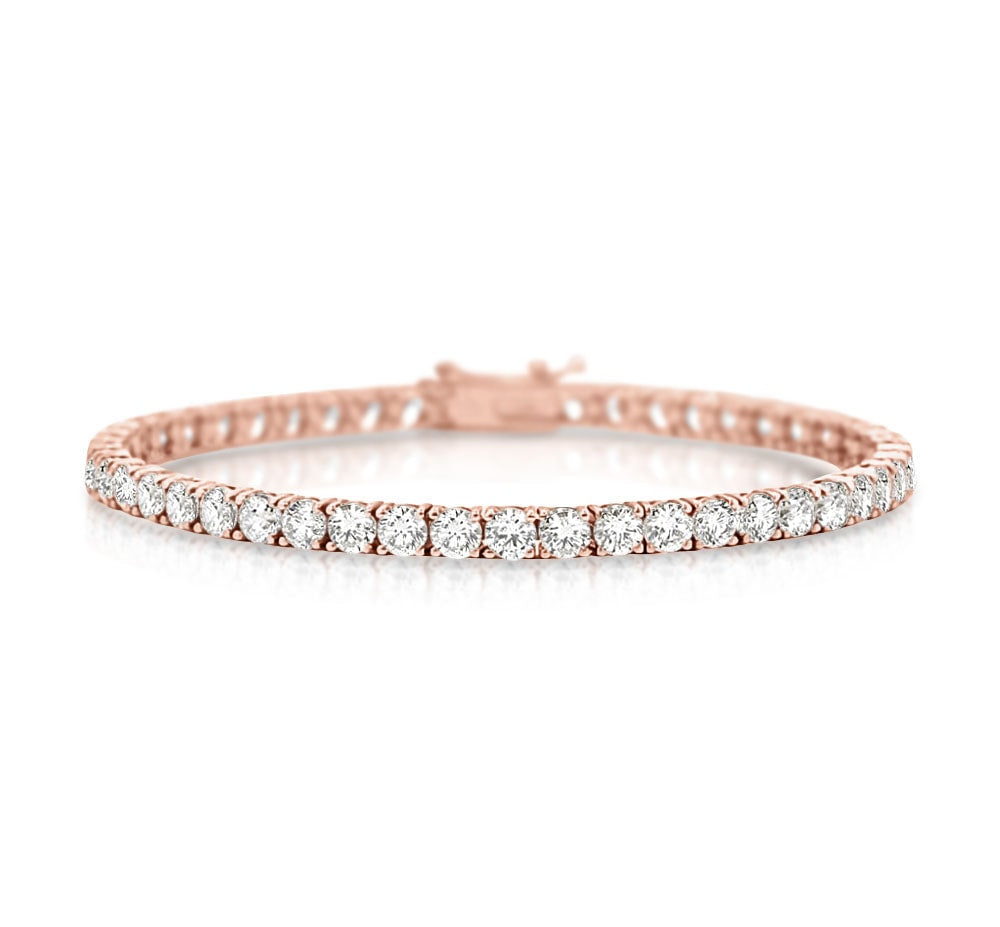 Classic Diamond Tennis Bracelet in 18k Rose Gold